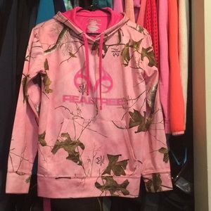 Real tree pink sweatshirt